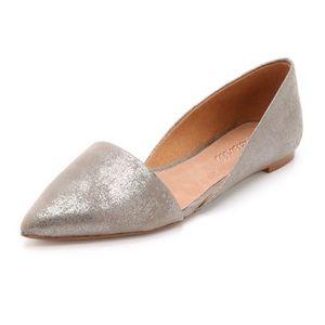 EUC Madewell Lydia D'Orsay Metallic Flats